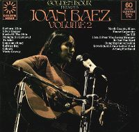 Cover Joan Baez - Golden Hour Presents Joan Baez Volume 2