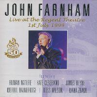 Cover John Farnham - Live At The Regent Theatre 1st July 1999