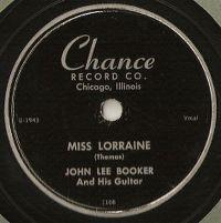 Cover John Lee Booker - Miss Lorraine
