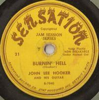 Cover John Lee Hooker - Burnin' Hell
