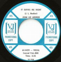 Cover John Lee Hooker - It Serves Me Right