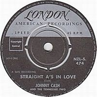Cover Johnny Cash And The Tennessee Two - Straight A's In Love