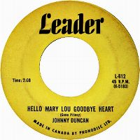 Cover Johnny Duncan - Hello Mary Lou Goodbye Heart