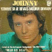 Cover Johnny Hallyday - Comme si je devais mourir demain