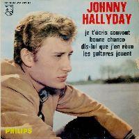 Cover Johnny Hallyday - Je t'écris souvent