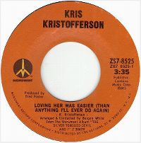 Cover Kris Kristofferson - Loving Her Was Easier (Than Anything I'll Ever Do Again)