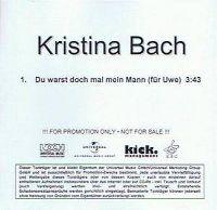 Cover Kristina Bach - Du warst doch mal mein Mann