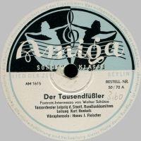 Cover Kurt Henkels und das Tanzorchester Leipzig des Staatlichen Rundfunkkomitees - Der Tausendfüßler