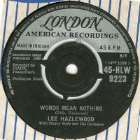 Cover Lee Hazlewood With Duane Eddy And His Orchestra - Words Mean Nothing