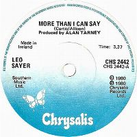 Cover Leo Sayer - More Than I Can Say