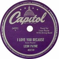 Cover Leon Payne - I Love You Because