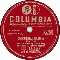 Cover Les Brown & His Orchestra / Vocal Chorus by Doris Day - Sentimental Journey