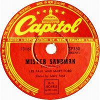 Cover Les Paul & Mary Ford - Mr. Sandman
