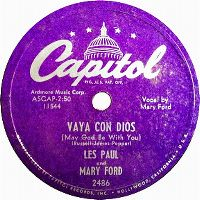 Cover Les Paul & Mary Ford - Vaya con Dios (May God Be With You)