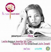Cover Leslie / Anggun / Jennifer Mc Cray / Natasha St Pier / Elisa Tovati / Julie Zenatti - Pour que tu sois libre (La rose Marie Claire)