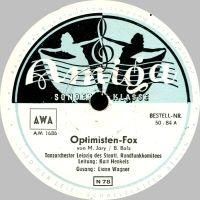 Cover Liane Wagner / Kurt Henkels und das Tanzorchester Leipzig des Staatlichen Rundfunkkomitees - Optimisten-Fox