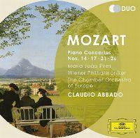 Cover Maria João Pires / Wiener Philharmoniker / The Chamber Orchestra Of Europe / Claudio Abbado - Mozart: Piano Concertos Nos. 14 - 17 - 21 - 26