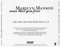 Cover Marilyn Manson - Man That You Fear
