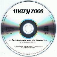 Cover Mary Roos - Es kommt nicht mehr von Herzen