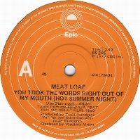 Cover Meat Loaf - You Took The Words Right Out Of My Mouth (Hot Summer Night)