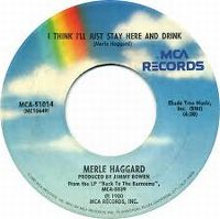 Cover Merle Haggard - I Think I'll Just Stay Here And Drink