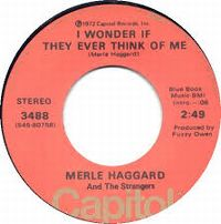 Cover Merle Haggard And The Strangers - I Wonder If They Ever Think Of Me