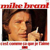 Cover Mike Brant - C'est comme ça que je t'aime