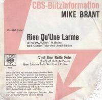 Cover Mike Brant - Rien qu'une larme