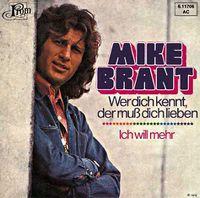 Cover Mike Brant - Wer dich kennt, der muss dich lieben