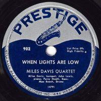 Cover Miles Davis Quartet - When Lights Are Low