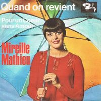 Cover Mireille Mathieu - Quand on revient