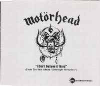 Cover Motörhead - I Don't Believe A Word