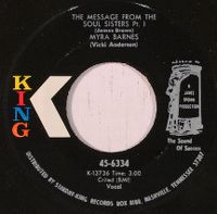 Cover Myra Barnes - The Message From The Soul Sisters