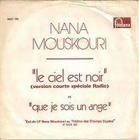 Cover Nana Mouskouri - Le ciel est noir