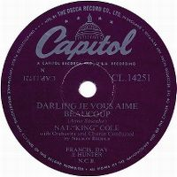 """Cover Nat """"King"""" Cole - Darling, je vous aime beaucoup"""