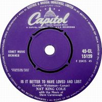 "Cover Nat ""King"" Cole - Is It Better To Have Loved And Lost?"