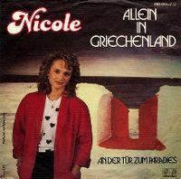 Cover Nicole - Allein in Griechenland