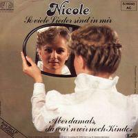 Cover Nicole - So viele Lieder sind in mir