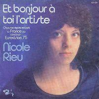 Cover Nicole Rieu - Et bonjour à toi l'artiste