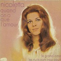 Cover Nicoletta - Quand on n'a que l'amour