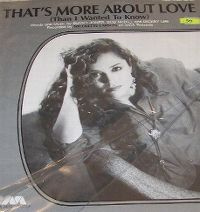 Cover Nicolette Larson - That's More About Love (Than I Wanted To Know)
