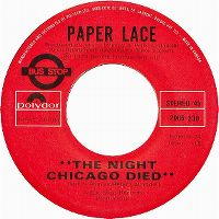 Cover Paper Lace - The Night Chicago Died