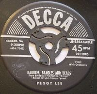 Cover Peggy Lee - Baubles Bangles And Beads