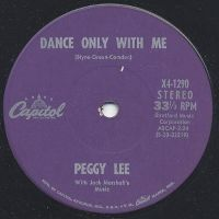 Cover Peggy Lee - Dance Only With Me