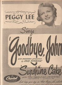Cover Peggy Lee - Goodbye, John