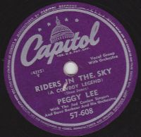 Cover Peggy Lee - Riders In The Sky (A Cowboy Legend)