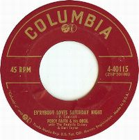 Cover Percy Faith & His Orchestra with The Paulette Sisters & Burt Taylor - Ev'rybody Loves Saturday Night