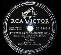 Cover Perry Como - Let's Take An Old Fashioned Walk
