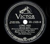 Cover Perry Como - Long Ago (And Far Away)