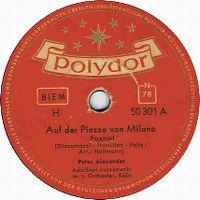 Cover Peter Alexander - Auf der Piazza von Milano
